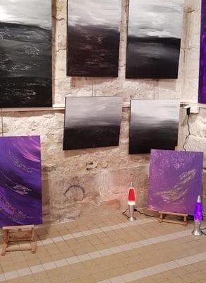 Exposition La Bouille Seine Maritime - Peinture Chantal Lallemand