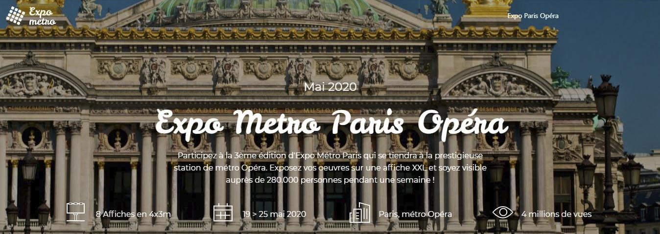 Exposition Métro Paris Opéra